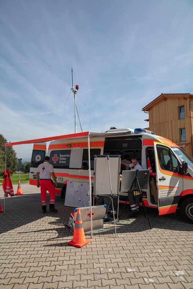 Bild: Der ELW des BRK Oberallgäu im Rahmen einer Übung.