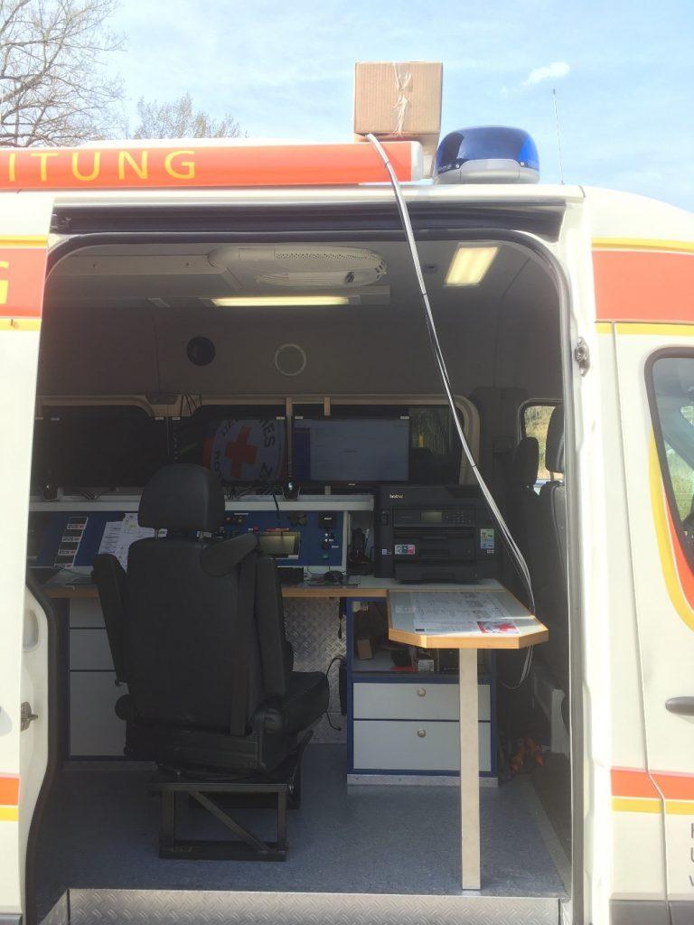 Bild: Temporäre Dachantenne während des Testzeitraums